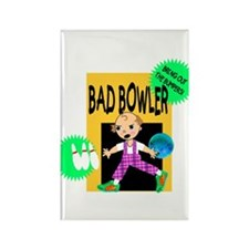 Bad Bowler Rectangle Magnet