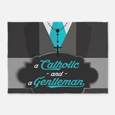 A Catholic and a Gentleman 5'x7'Area Rug