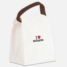 I Love MACAQUES Canvas Lunch Bag
