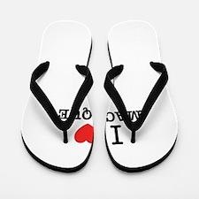 I Love MACAQUE Flip Flops