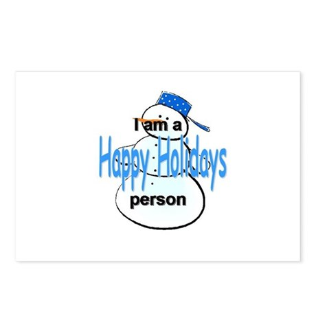 I'm a Happy Holidays person Postcards (Package of