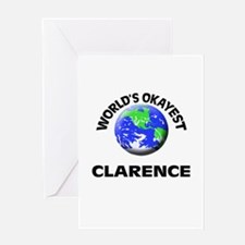 World's Okayest Clarence Greeting Cards