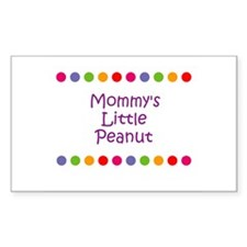 Mommy's Little Peanut Rectangle Decal