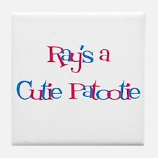 Ray's a Cutie Patootie Tile Coaster