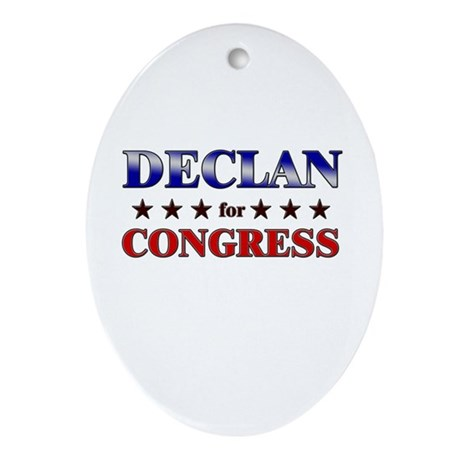DECLAN for congress Oval Ornament