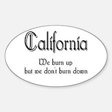 California Burn Up Oval Decal