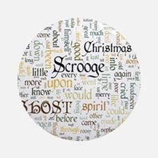 A Christmas Carol Word Cloud Round Ornament
