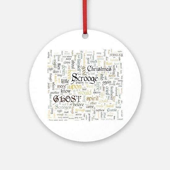 A Christmas Carol Word Cloud Round Ornament
