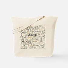A Christmas Carol Word Cloud Tote Bag