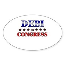 DEBI for congress Oval Decal