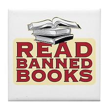 Read banned books - Tile Coaster