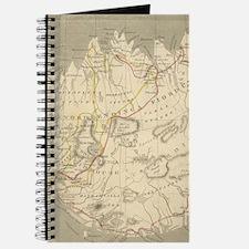 Vintage Map of Iceland (1819) Journal