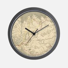 Vintage Map of Iceland (1819) Wall Clock