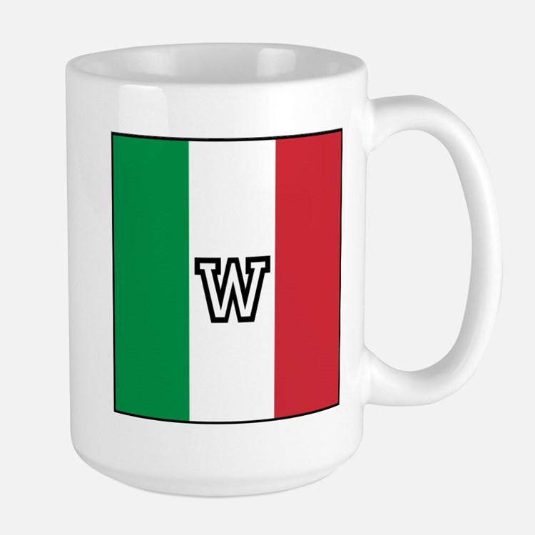 Team Colors Monogram Italian Large Mug
