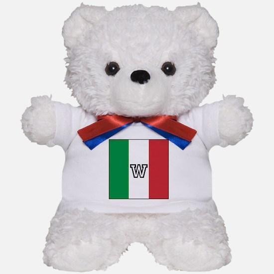 Team Colors Monogram Italian Teddy Bear