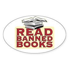 Read banned books - Oval Bumper Stickers