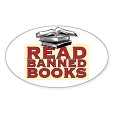 Read banned books - Oval Decal