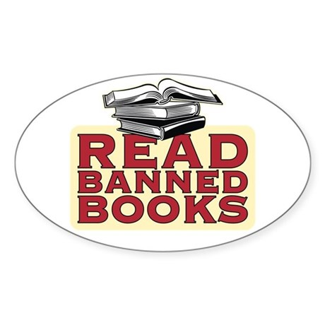 Read banned books - Oval Sticker