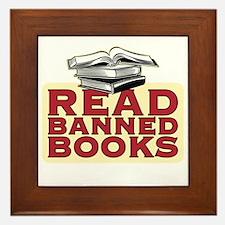 Read banned books - Framed Tile