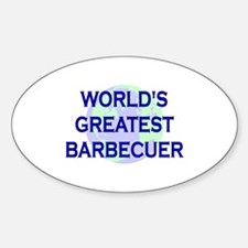 World's Greatest Barbecuer Oval Decal
