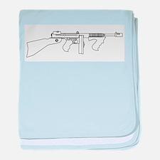 Gangster Tommy Gun baby blanket