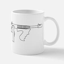 Gangster Tommy Gun Mugs