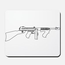 Gangster Tommy Gun Mousepad