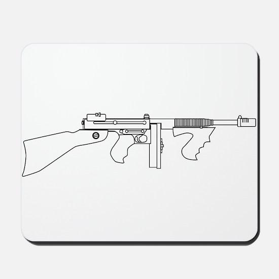 Gangster Tommy Gun Mousepad