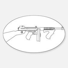 Gangster Tommy Gun Decal