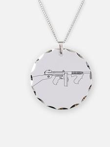 Gangster Tommy Gun Necklace