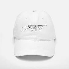 Gangster Tommy Gun Baseball Baseball Cap