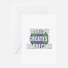 World's Greatest Barbecuer Greeting Cards (Pk of 1