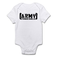 Proud Army Uncle - Tatterd Style Infant Bodysuit