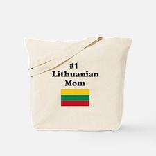 #1 Lithuanian Mom Tote Bag
