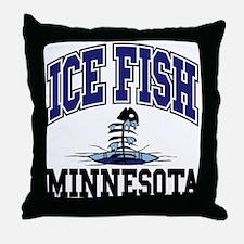 Ice Fish Minnesota Throw Pillow