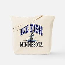 Ice Fish Minnesota Tote Bag