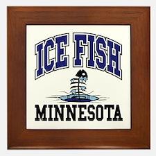Ice Fish Minnesota Framed Tile