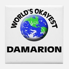 World's Okayest Damarion Tile Coaster