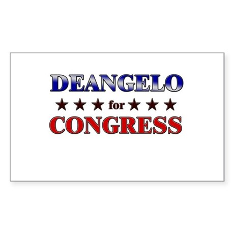 DEANGELO for congress Rectangle Sticker