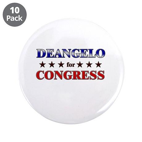 "DEANGELO for congress 3.5"" Button (10 pack)"