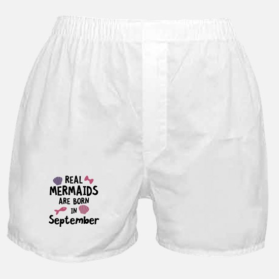 Mermaids are born in September C6i5o Boxer Shorts