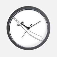 Scimitar Sword Outline Wall Clock