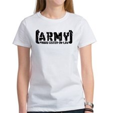 Proud Army Sis-n-Law - Tatterd Style Tee