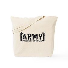 Proud Army Sis-n-Law - Tatterd Style Tote Bag