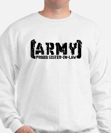 Proud Army Sis-n-Law - Tatterd Style Sweatshirt