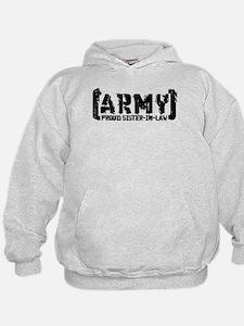 Proud Army Sis-n-Law - Tatterd Style Hoodie