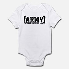 Proud Army Sis-n-Law - Tatterd Style Infant Bodysu