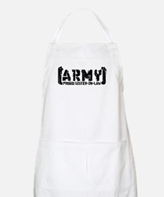 Proud Army Sis-n-Law - Tatterd Style BBQ Apron