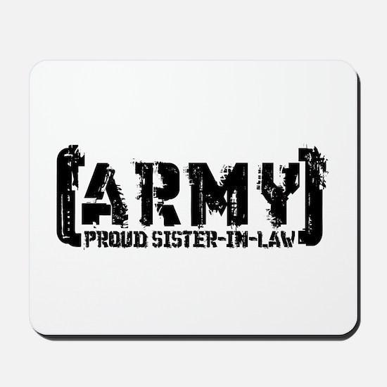 Proud Army Sis-n-Law - Tatterd Style Mousepad