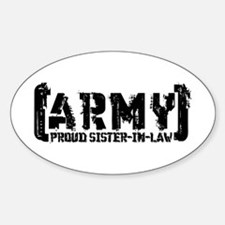 Proud Army Sis-n-Law - Tatterd Style Decal